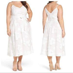 City chic white mesh floral dress size 20